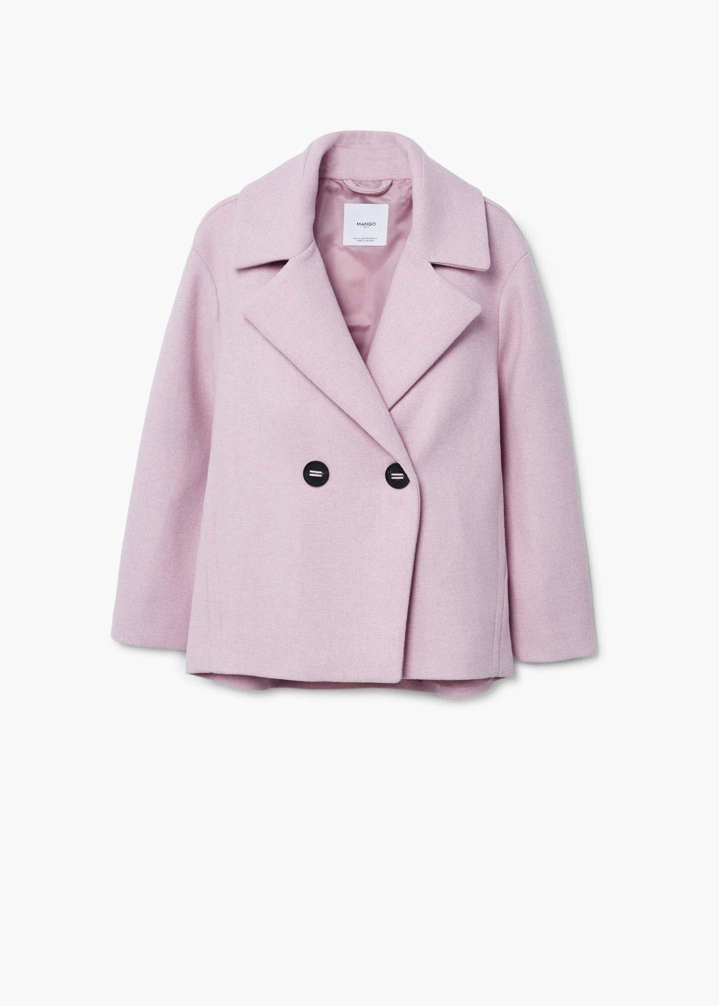 Mango pastel pink coat