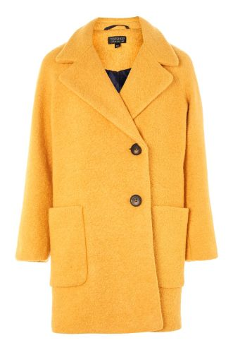 Topshop ochre boucle coat