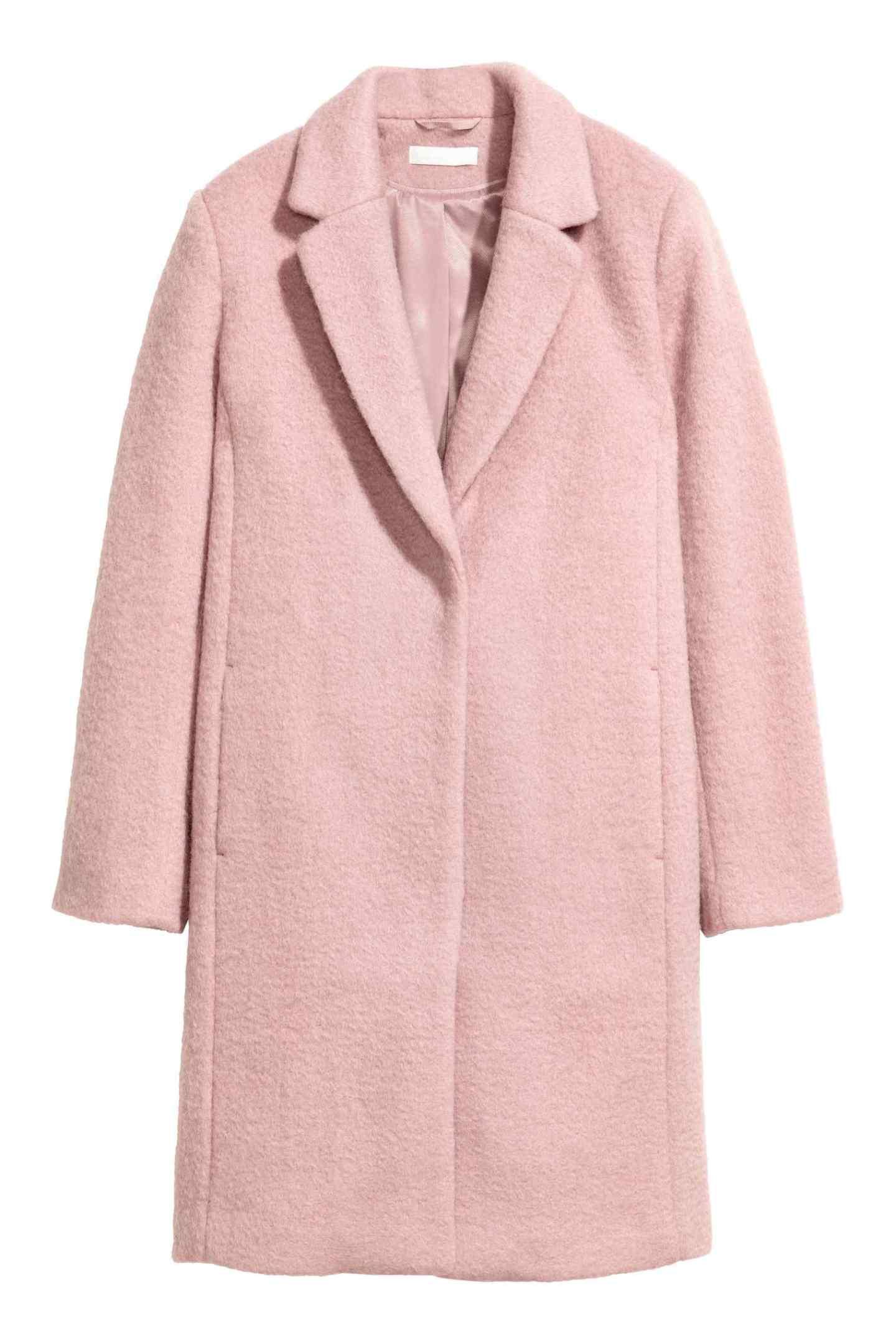 hm pink wool coat