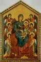 La Vierge et l'Enfant en majesté entourés de six anges, 1280 by Cenni di Pepe dit (Giovanni) CIMABUE