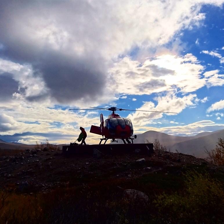 I väntan på helikoptern
