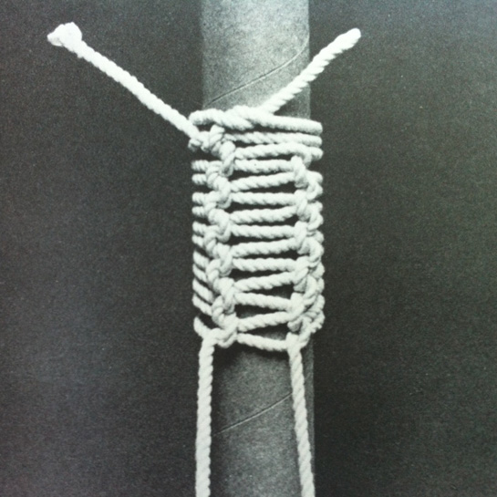 macrame wrapped tube