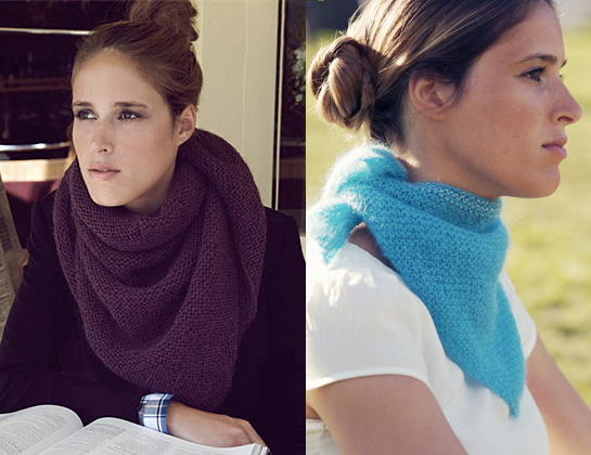breaking the wool knitted kerchief scarf