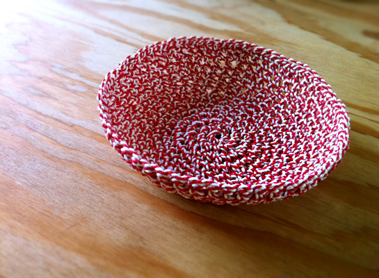 crocheted bowl kitchen twine purl bee