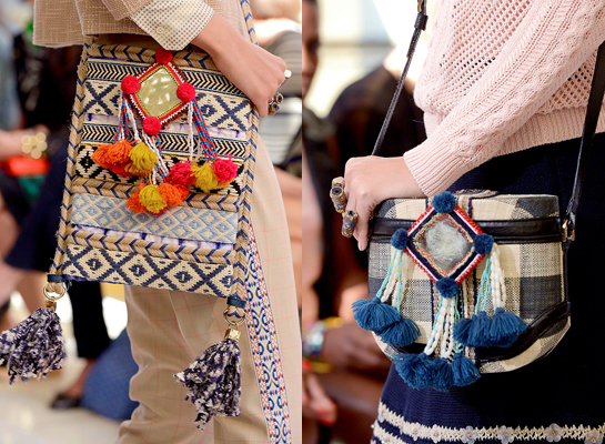 tory burch spring 2013 bags pompoms tassels