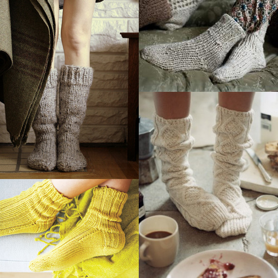 house socks knitting patterns