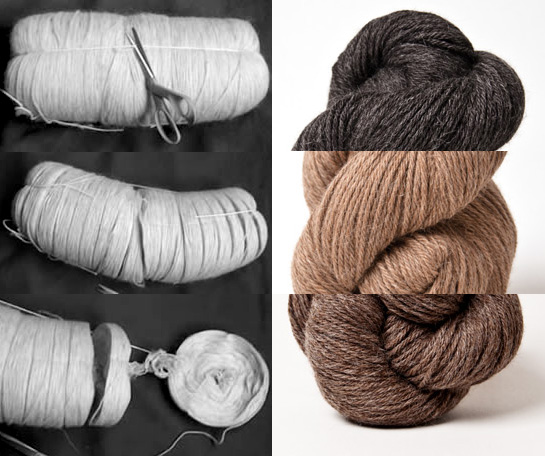 unspun icelandic and herriot undyed wool yarn