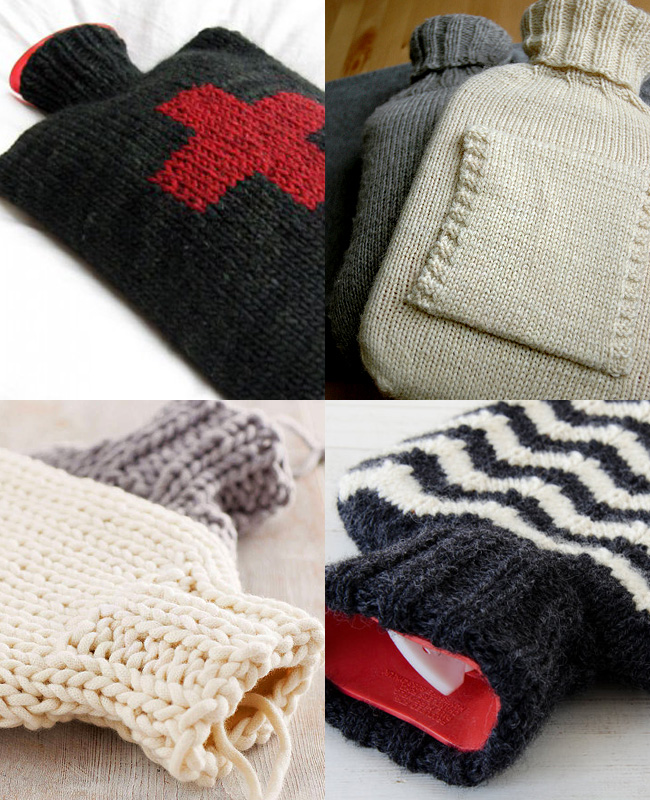 knitted hot water bottle covers patterns