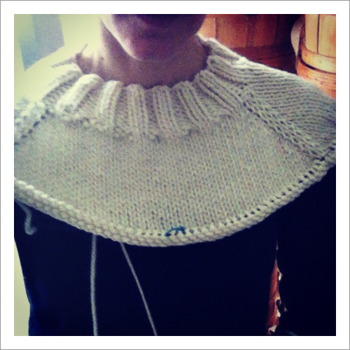 agnes knitted sweater neck