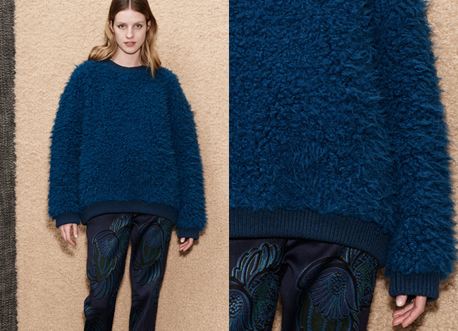 stella mccartney blue boucle sweater