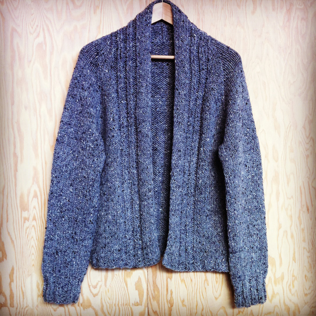 walpole chunky modified hand knit cardigan