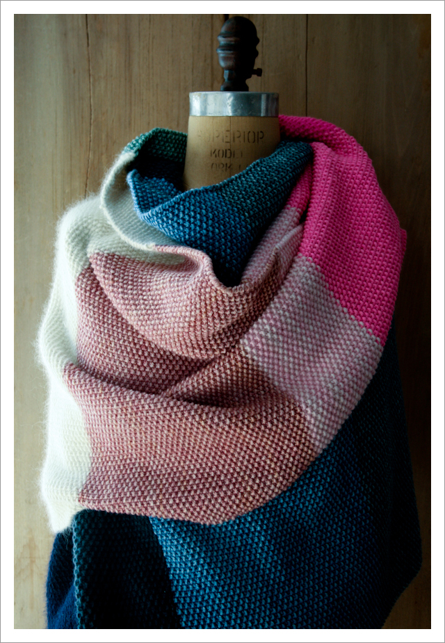 amazing seed stitch wrap knitting pattern from the purl bee