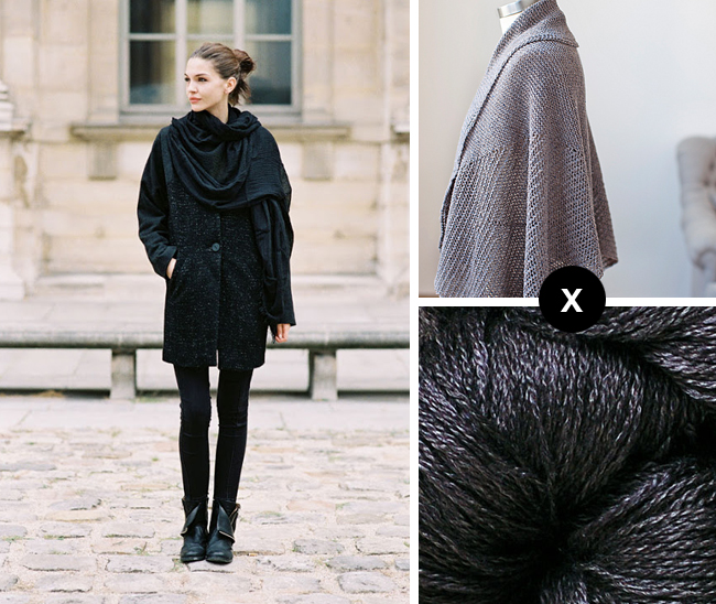 knit the look kate bogucharskaia's black silk wrap