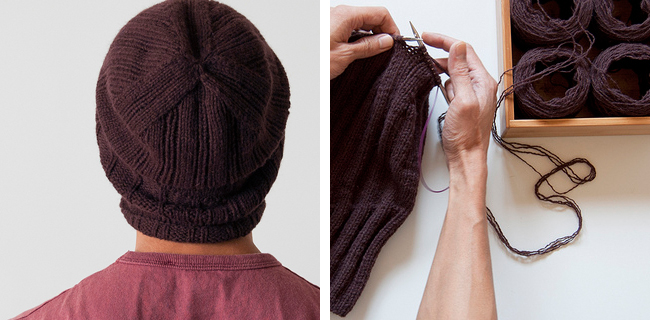 Gridjunky hat knitting