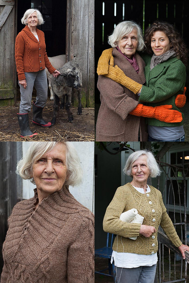 Twist Collective tweed cable sweaters and mittens
