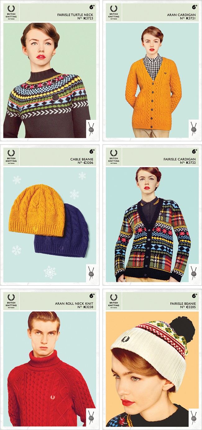 Fred Perry free vintage-inspired knitting patterns