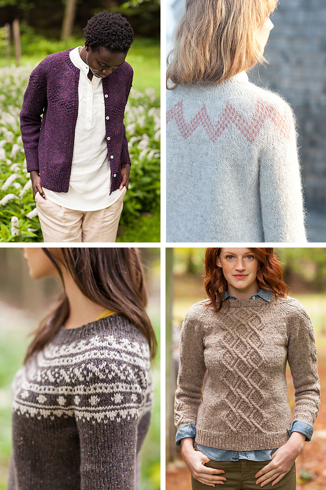 New Favorites: Round yoke sweater knitting patterns