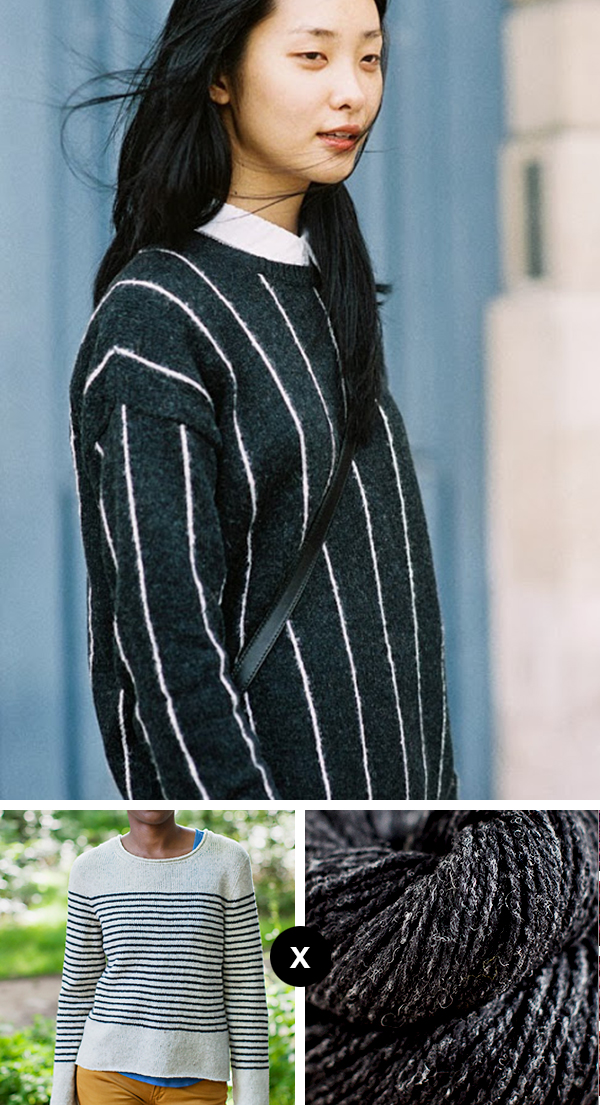 Knit your own chalk stripe sweater