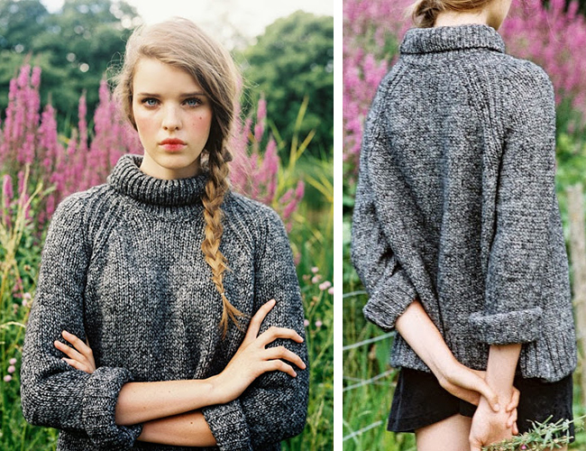 How to knit a version of Vanessa Bruno's amazing turtleneck