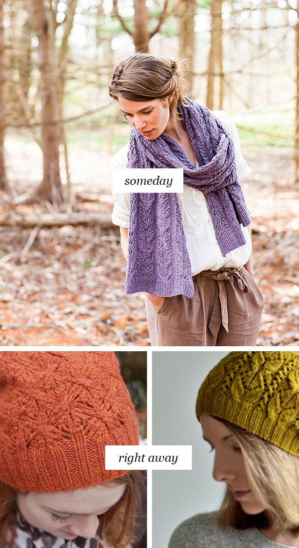 Someday vs Right Away: Cables and lace
