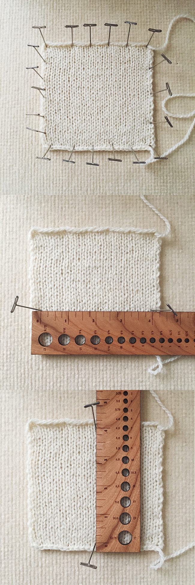 How to knit and measure a gauge swatch