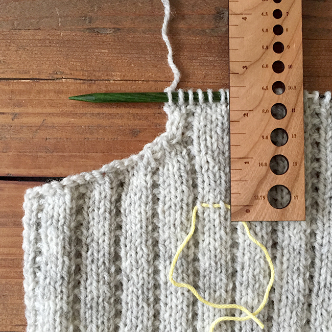 Hot Tip: Mark your armhole depth