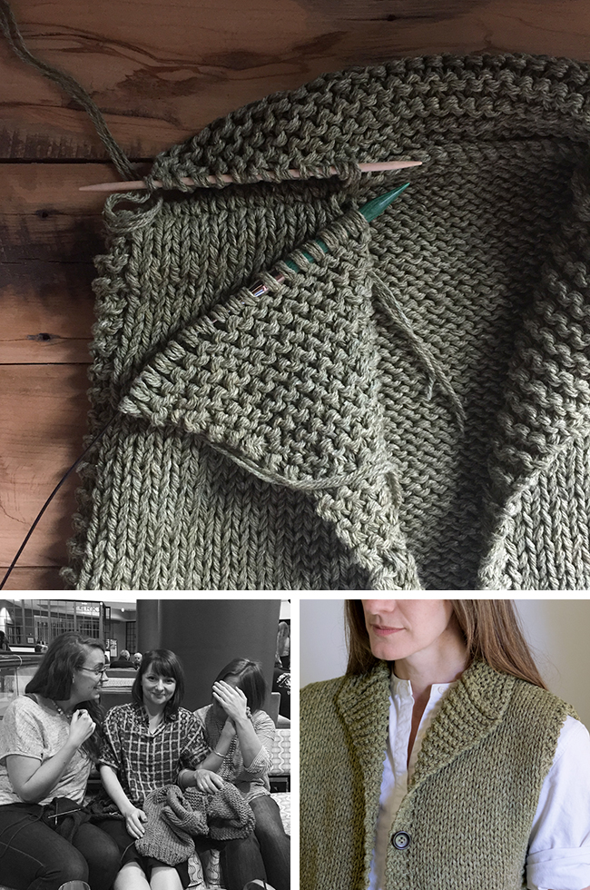 How to knit a Cowichan-style shawl collar