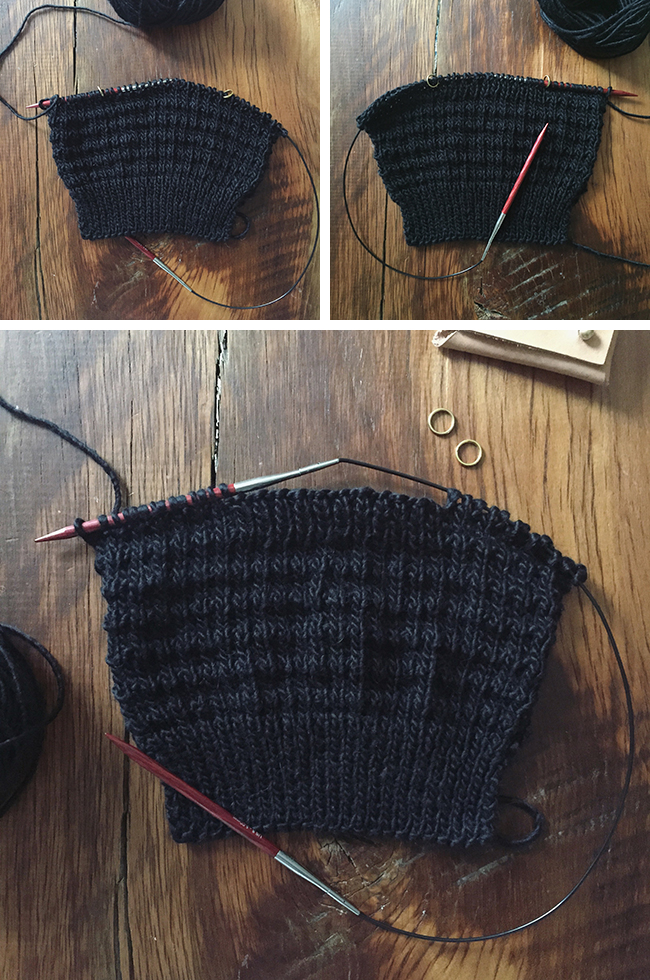 How to knit inset pockets