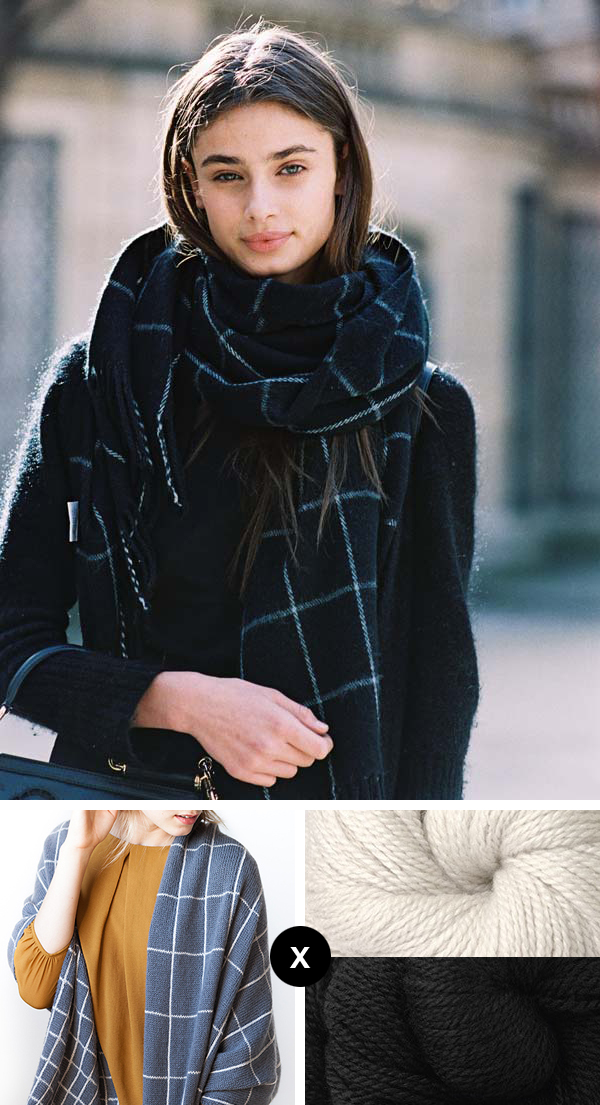 Knit the Look: Windowpane scarf