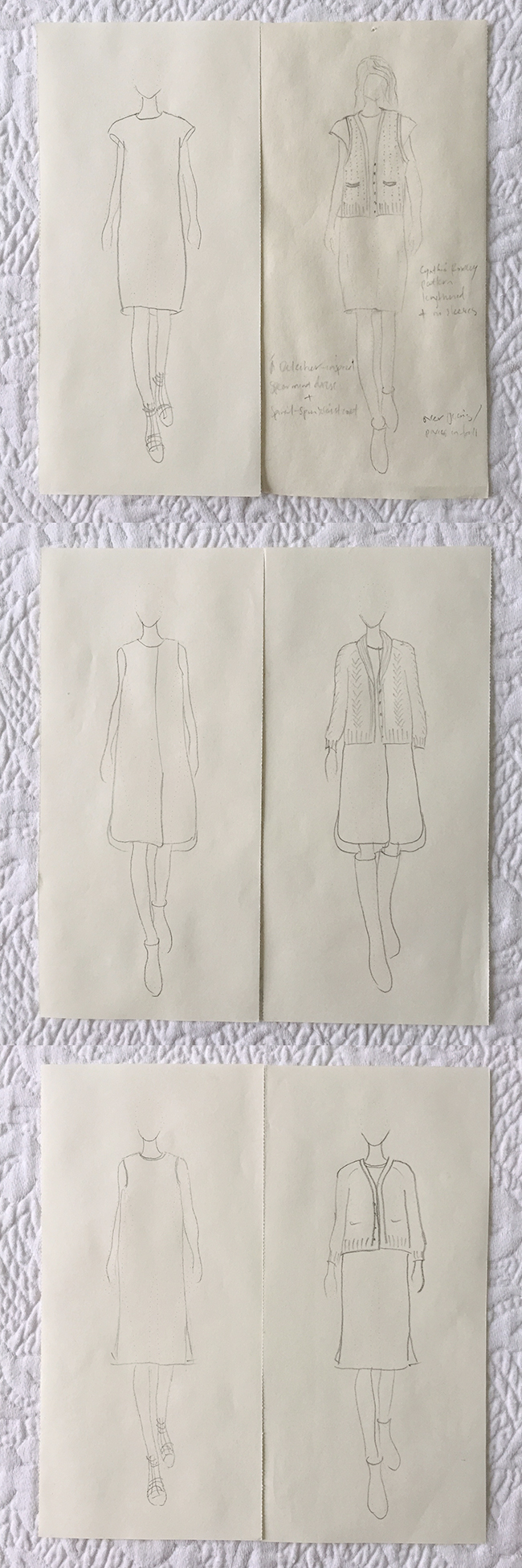 Summer silhouette 1: Dresses with sweaters
