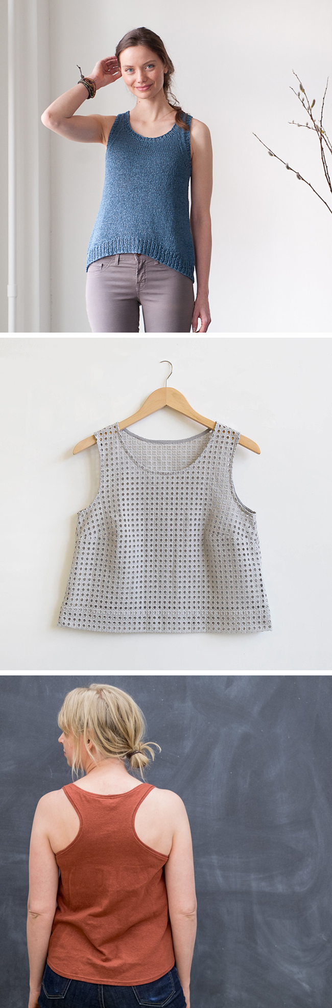 Make Your Own Basics: The tank top (knitted and sewn)