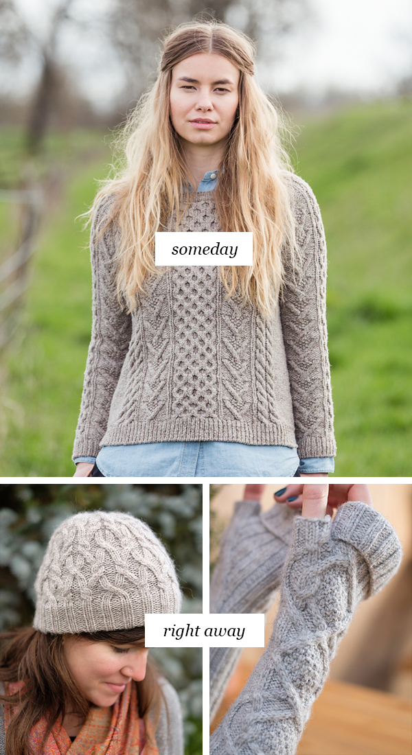 Someday vs. Right Away: Cables, please, for the love of knitting