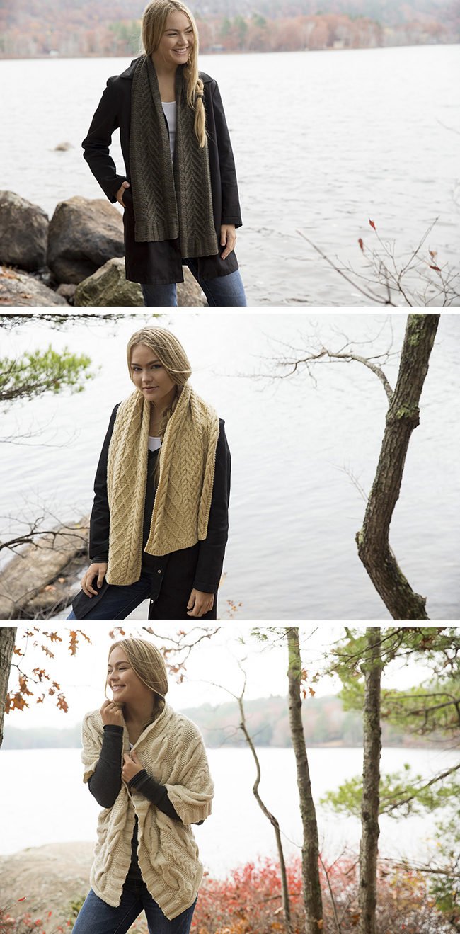 New Favorites: Swans Island's S/M/L cable scarves