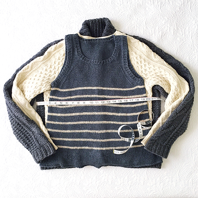 How to knit the right size sweater: Or, what is ease?