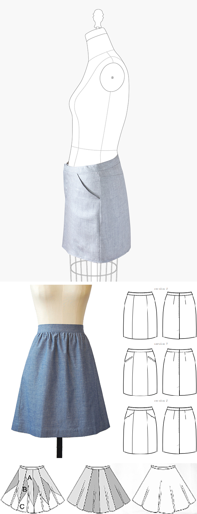 Make Your Own Basics: The skirt(s)
