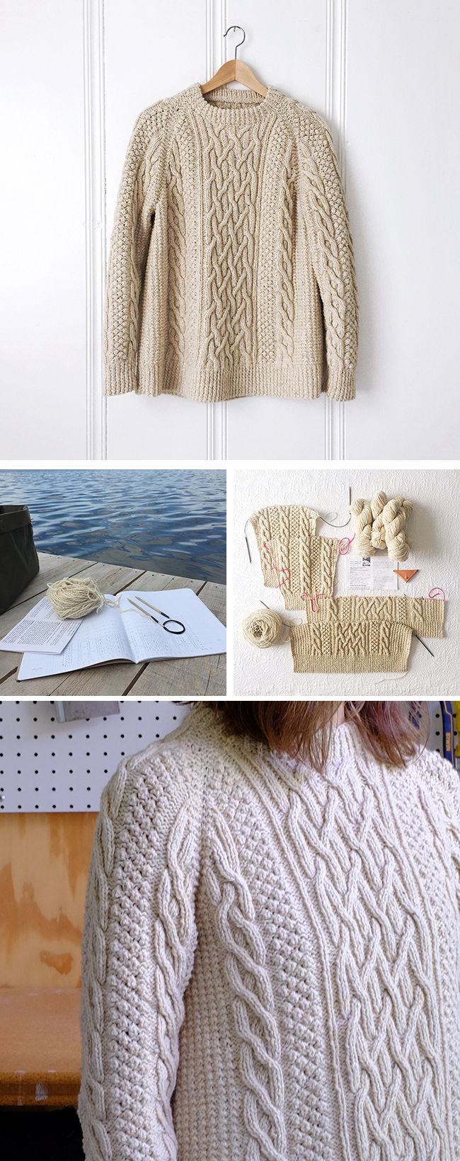Finished: The fisherman sweater (SoB-3)