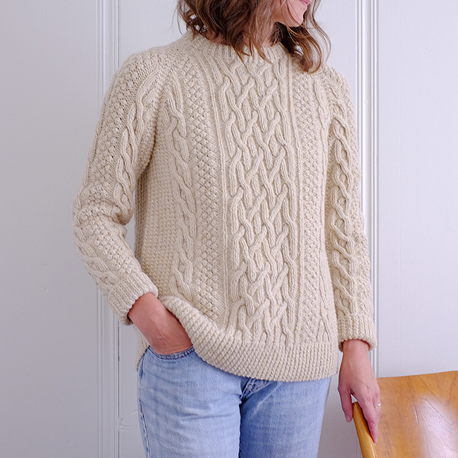 Before and After: Fisherman sweater redux