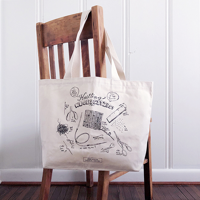 NEW! the Knitting Necessities tote from Fringe Supply Co.