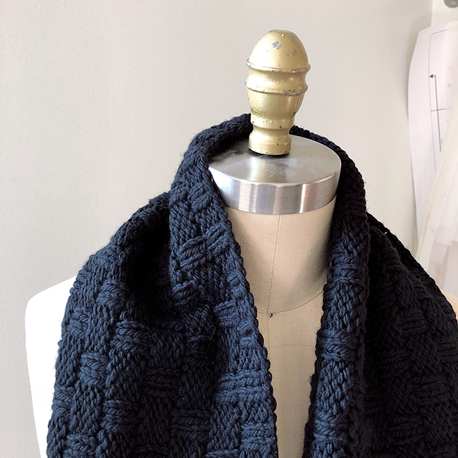 How to knit the Double Basketweave Cowl with chunky yarn