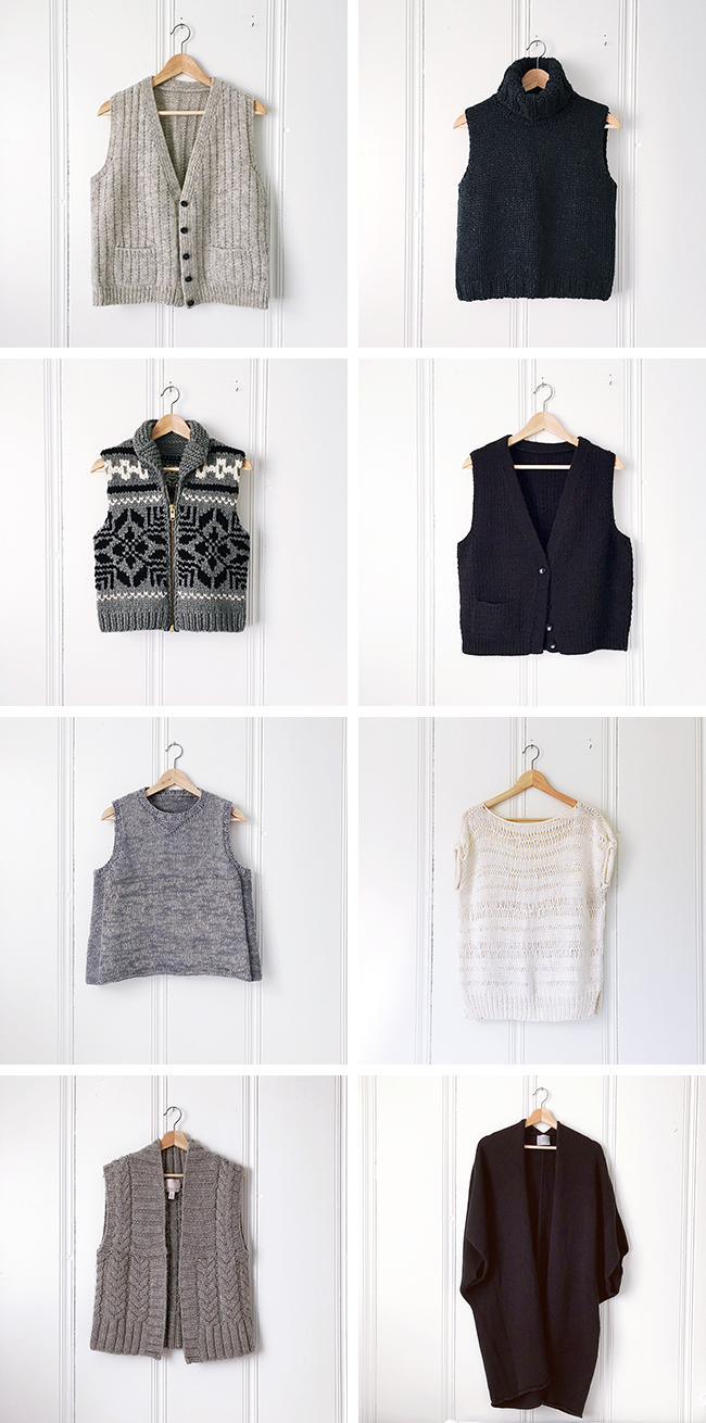 Sweater inventory, part 1: Vests and other sleeveless