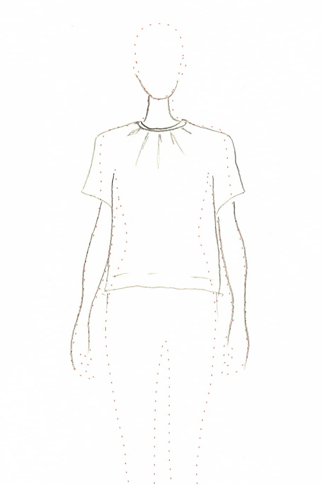 Idea Log: Pleated tee