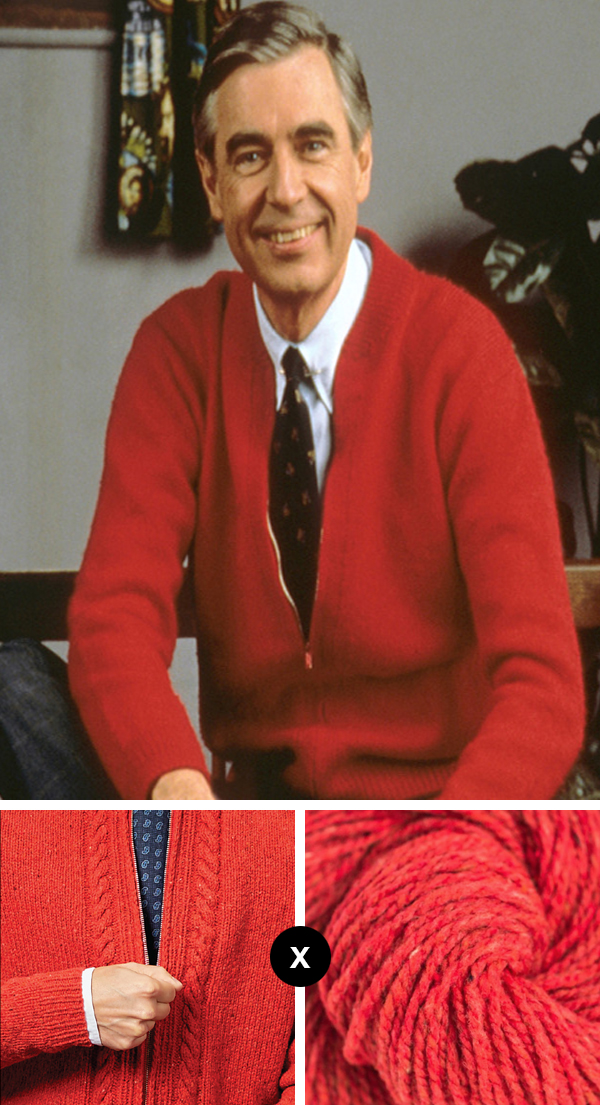 Knit the Look: Mister Rogers' Smithsonian cardigan