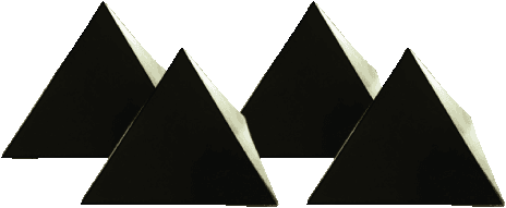 Set of 4 Orgonite Shungite Pyramids | FRINGE ENERGY