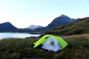 campeggio libero tenda in scozia