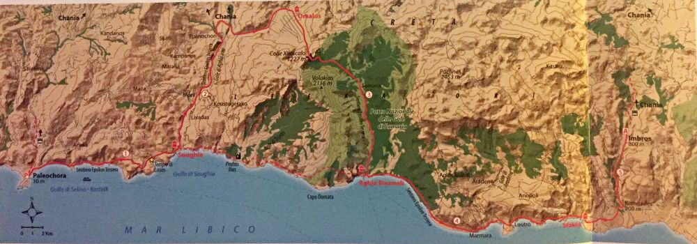 mappa trekking in Grecia