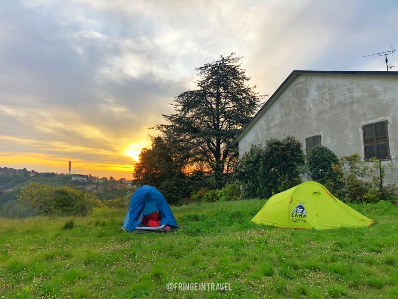 Organizzare la via degli abati la tenda