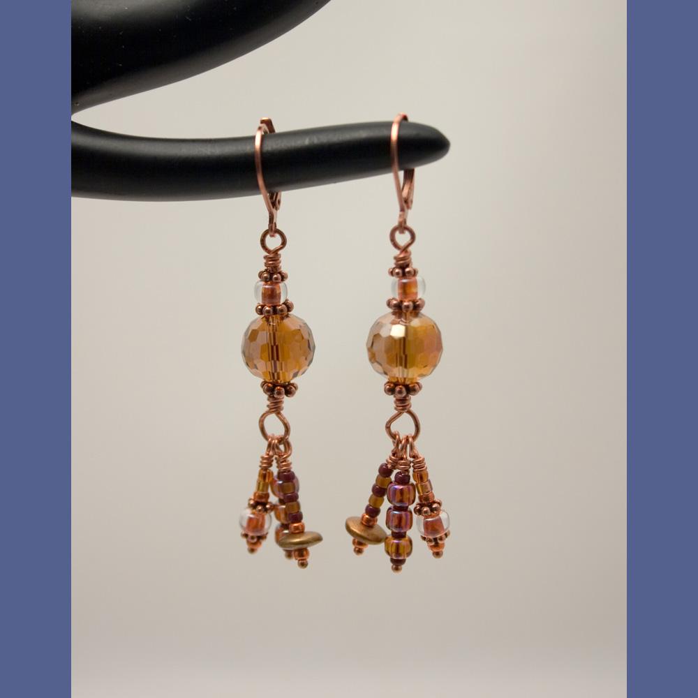 Copper Roads Earrings