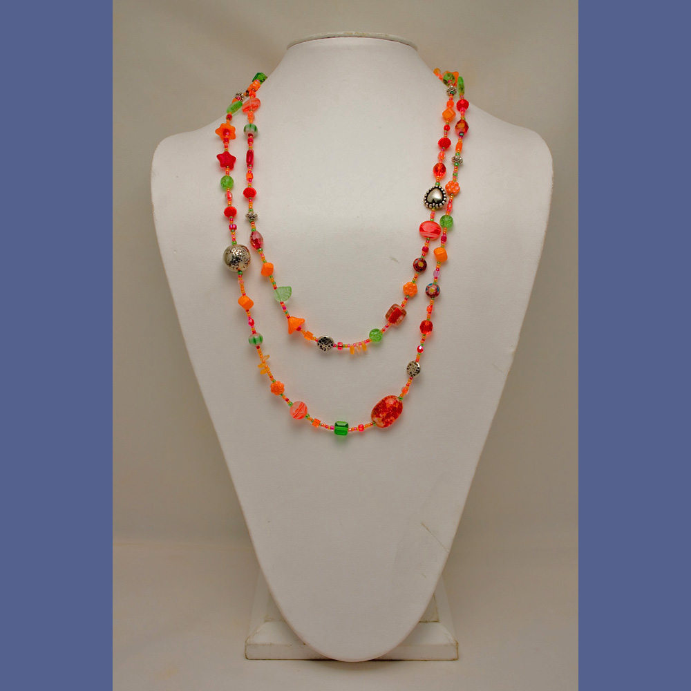 Electric Orange Necklace