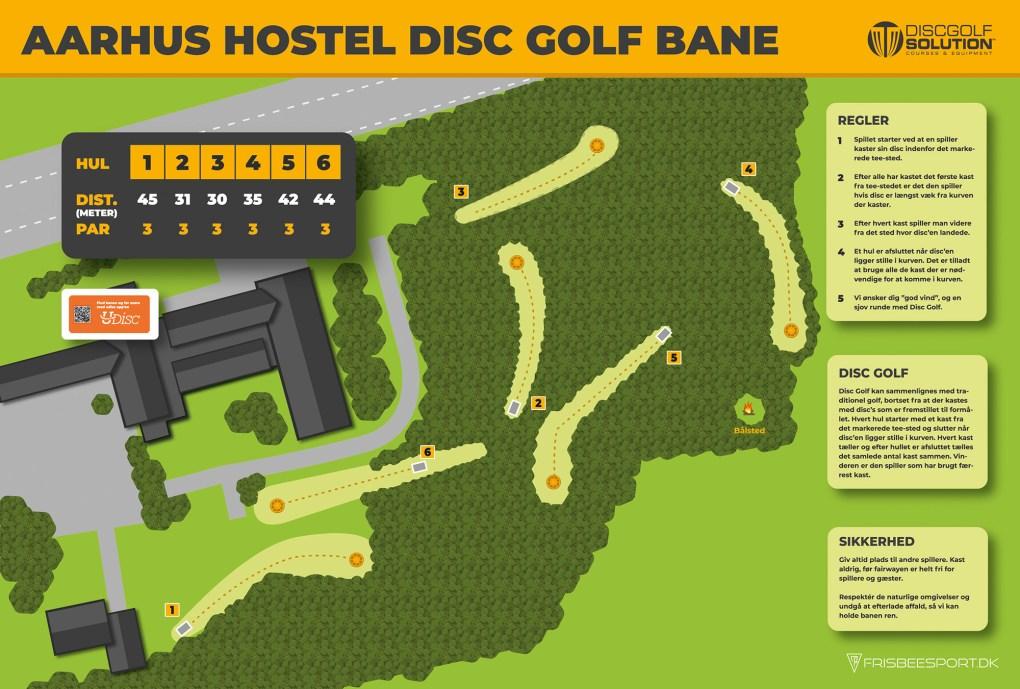 Aarhus Hostel Disc Golf Bane