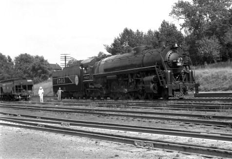 4-8-4 4503 new at Lindenwood Yard, St. Louis, Missouri in June 1942